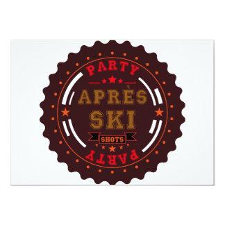Apres Ski Party Logo Card