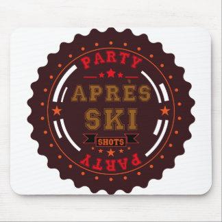 Apres Ski Party Logo Mouse Pad