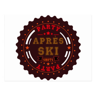 Apres Ski Party Logo Postcard