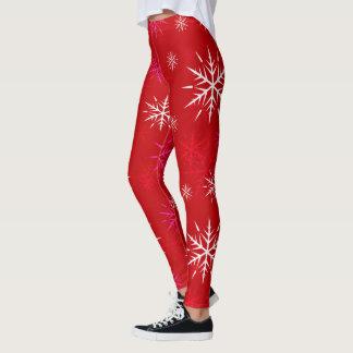 Après-ski, Snowflake Design Leggings Red