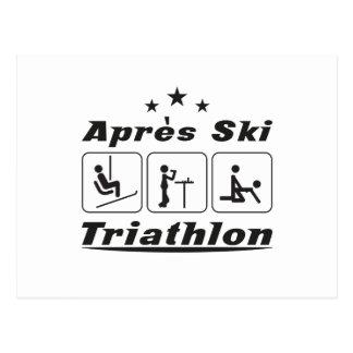 Apres Ski Triathlon Postcard