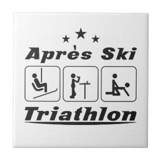 Apres Ski Triathlon Small Square Tile