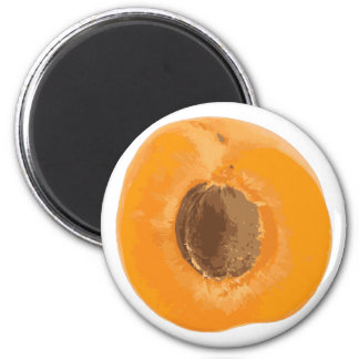 apricot 6 cm round magnet
