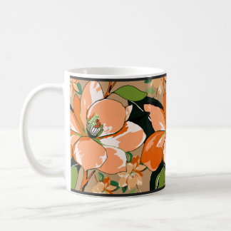 Apricot Azalea on Tan Coffee Mug