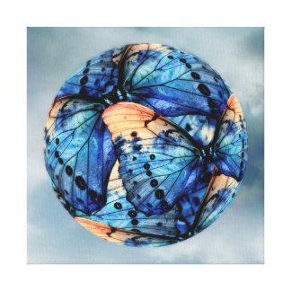 Apricot & Azure Canvas Print