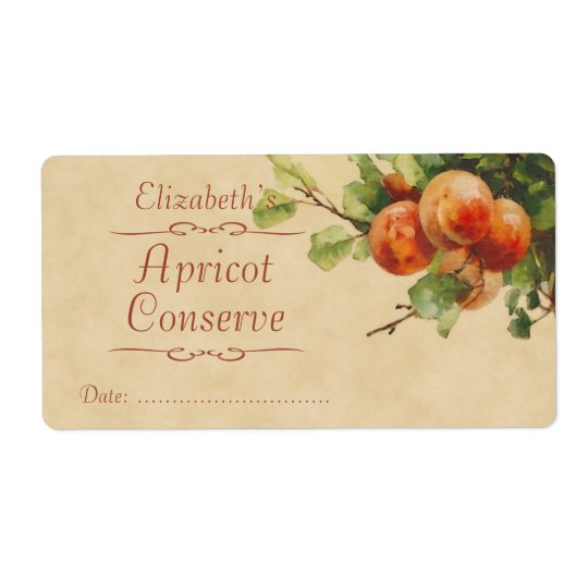 Apricot Canning label Shipping Label