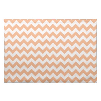 Apricot Color Chevron; zig zag Placemat