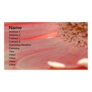 Apricot Gerbera Business Card Template