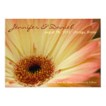 Apricot Gerbera • Save the Date Announcement