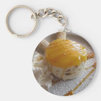 Apricot jam covered ice cream cake key ring