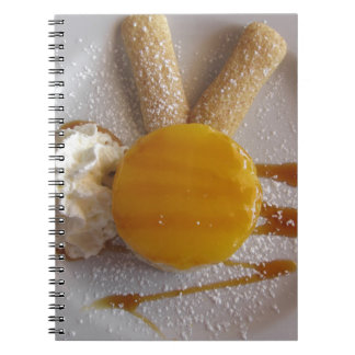 Apricot jam covered ice cream cake notebooks