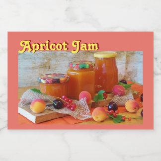 Apricot Jam Jar Label