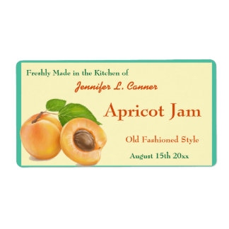 Apricot Jam or Preserves Canning Jar Shipping Label