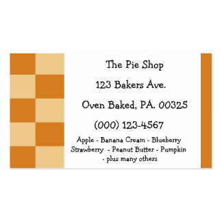 Apricot Pie Colors Double-Sided Standard Business Cards (Pack Of 100)