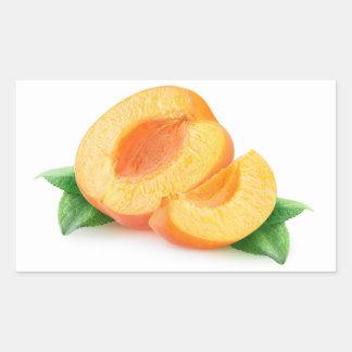 Apricot pieces rectangular sticker