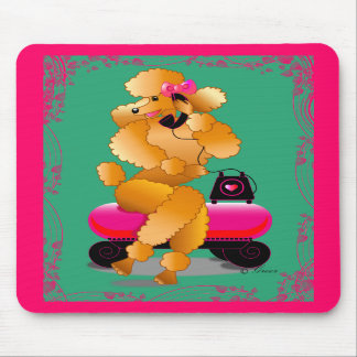 Apricot Poodle 50's Style Mousepad