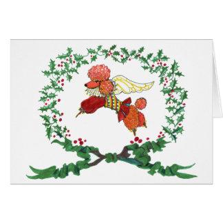 Apricot Poodle Barking for JOY! Card
