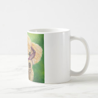 Apricot poodle in shades Art Original Coffee Mugs