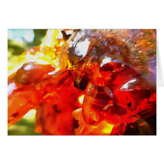 Apricot Resin Abstract Card