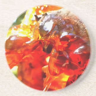 Apricot Resin Abstract Drink Coaster