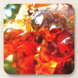 Apricot Resin Abstract Drink Coasters