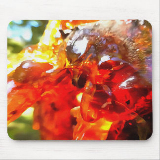 Apricot Resin Abstract Mouse Pad