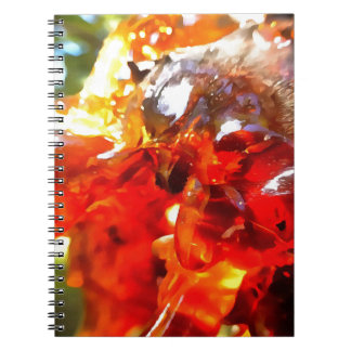 Apricot Resin Abstract Notebook