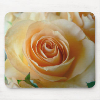 Apricot Rose Mouse Pad