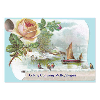 Apricot Rose Victorian Trade Card Pack Of Chubby Business Cards