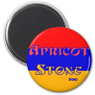 Apricot Stone 6 Cm Round Magnet