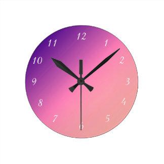 Apricot to Purple Wall Clock