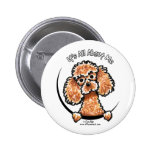 Apricot Toy Miniature Poodle IAAM Buttons