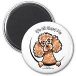 Apricot Toy Miniature Poodle IAAM 6 Cm Round Magnet