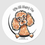 Apricot Toy Miniature Poodle IAAM Round Stickers