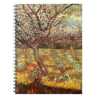 Apricot Trees in Blossom by Van Gogh Spiral Note Book
