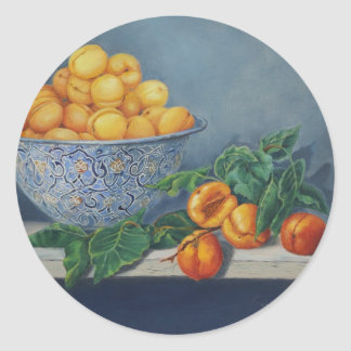 Apricots and Peaches Classic Round Sticker