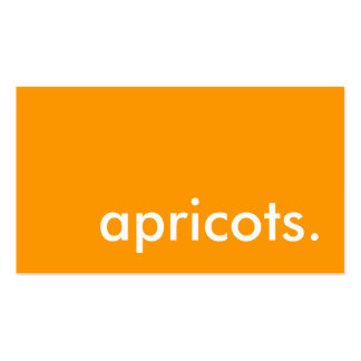 apricots. business card templates