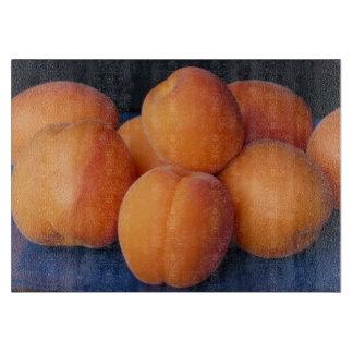 Apricots Glass Cutting Board