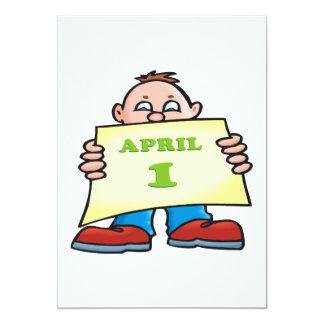 """April 1st 5"""" x 7"""" invitation card"""