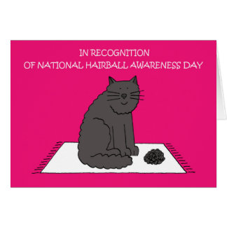 April 26th National Hairball Awareness Day Card