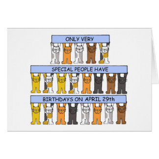 April 29th Birthday Cats Card