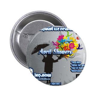 April - April Showers Buttons