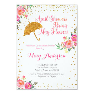April baby showers invitation