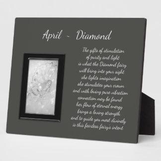 April Birthstone Diamond Plaque