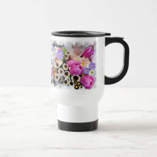 APRIL BOUQUET # 2 ~ Monogram Travel/Commuter Mug