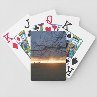 April Colorado Sunset Bicycle Playing Cards