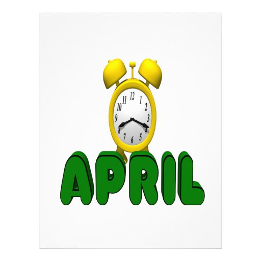 April Countdown Personalized Flyer