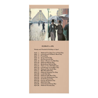 April events customized rack card