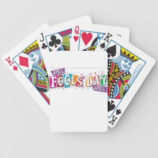 April fool day poker cards