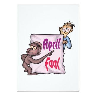 April Fool 13 Cm X 18 Cm Invitation Card